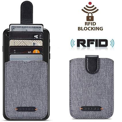Amazon.com: Funda para teléfono móvil RFID de lona con funda ...