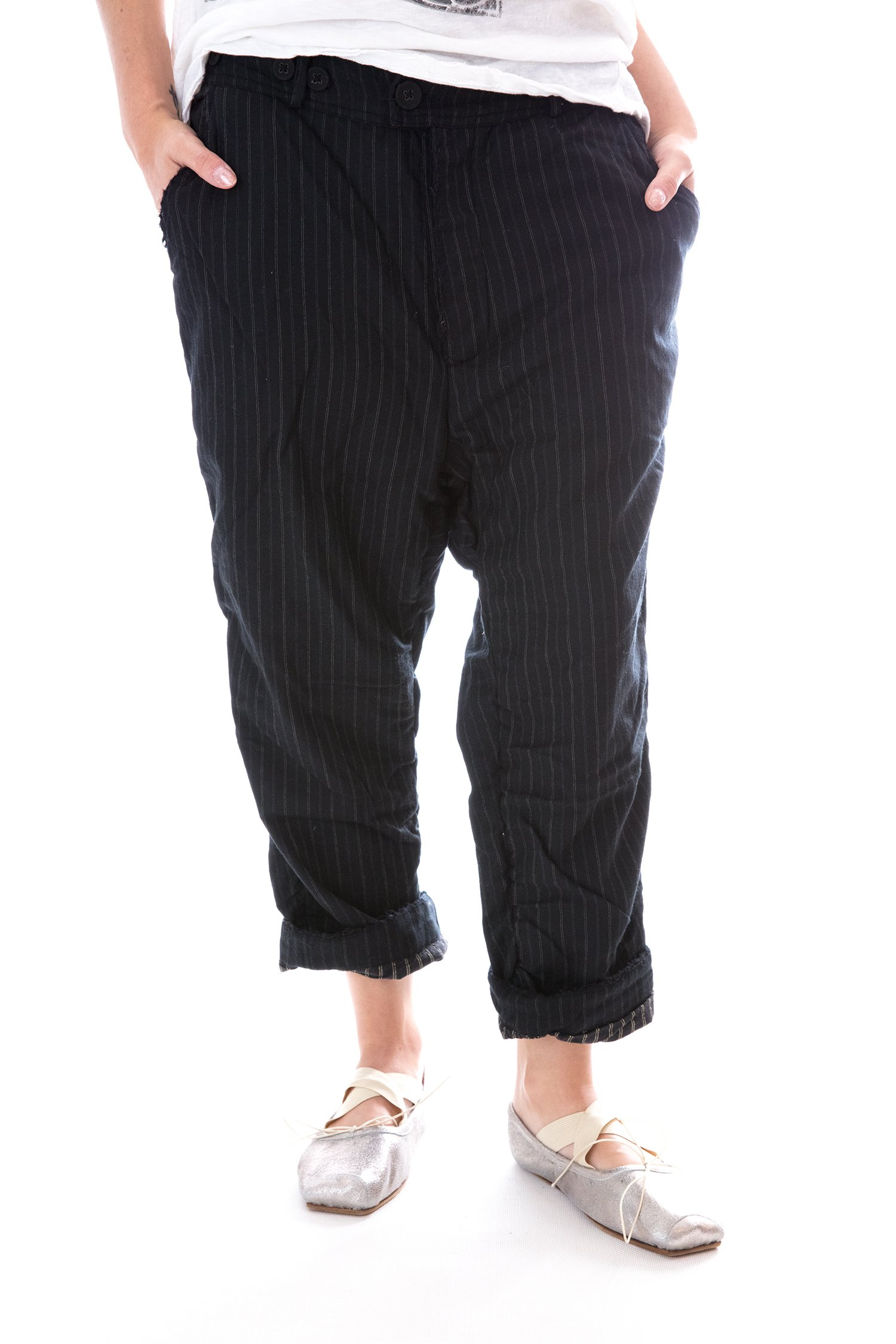 Fine Wool Violet Pants with Cotton Lining by Magnolia Pearl (Image #1)