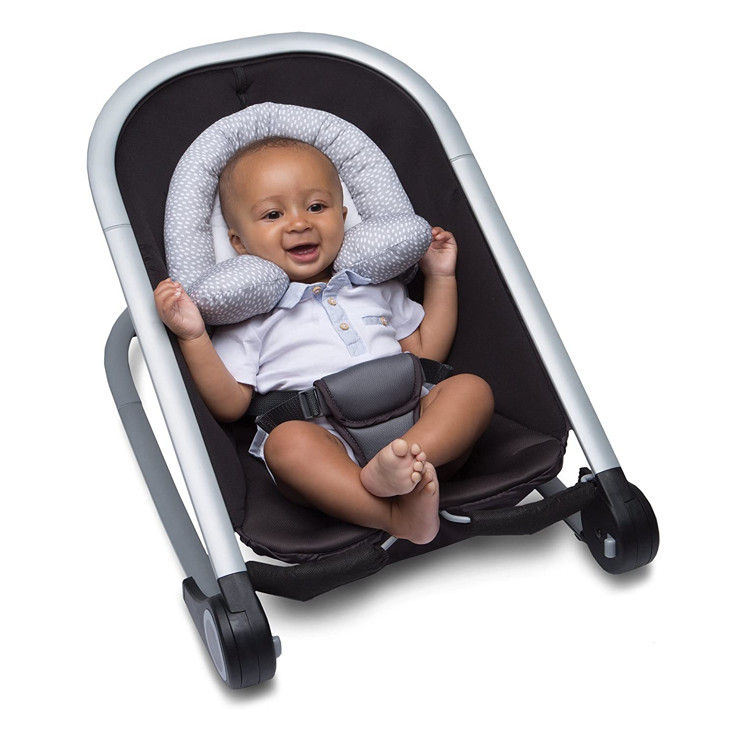 Gray Boppy Organic Lets Go Fabric Head and Neck Support