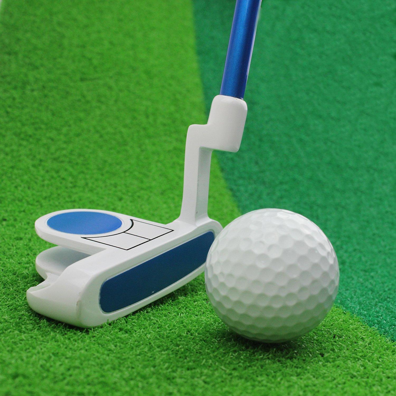 Crestgolf Kids Golf Club Junior Putter Golf Putter,Blue and Pink for Your Choice. (blue, 27 inch)