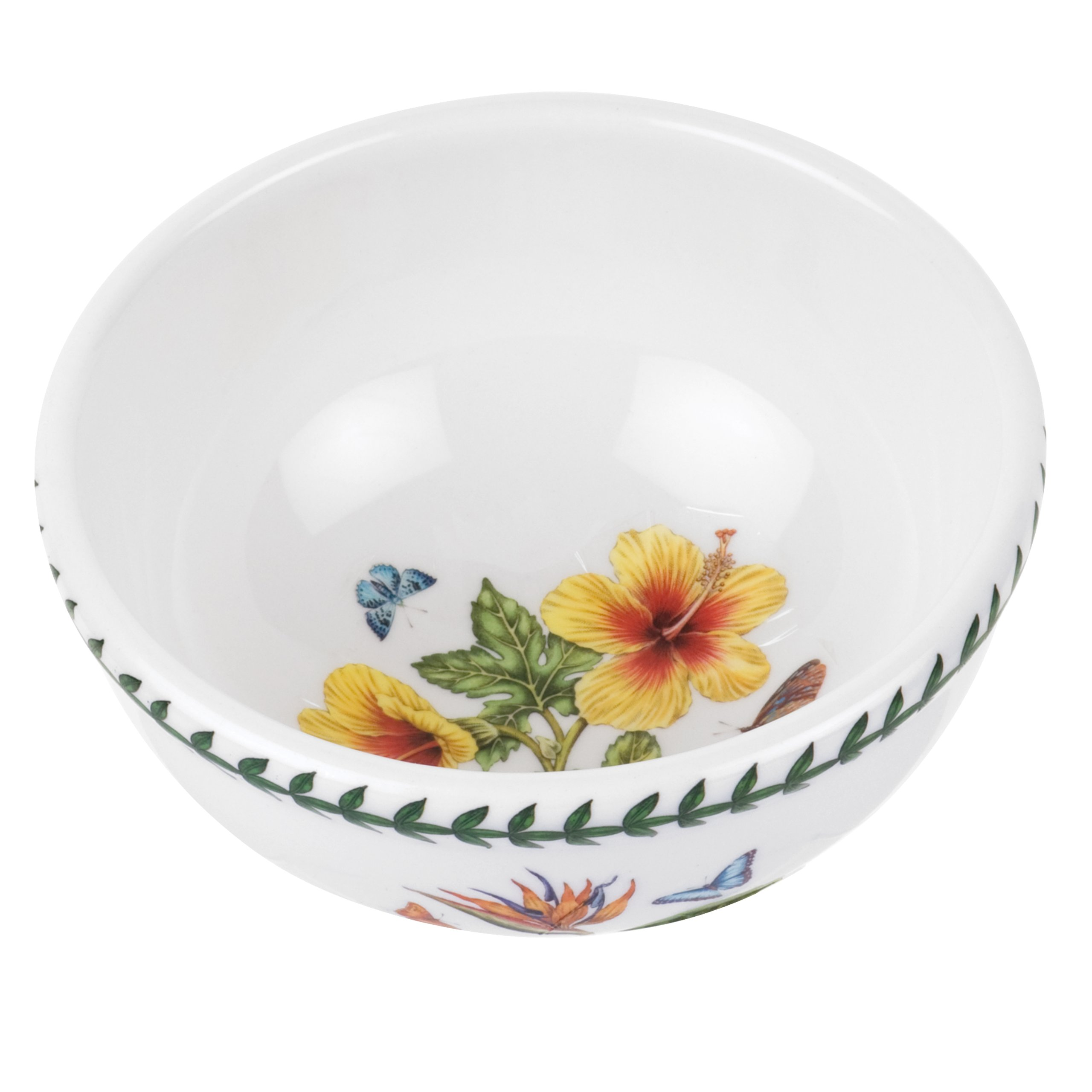 Portmeirion Exotic Botanic Garden Individual Fruit Salad Bowl with Hibiscus