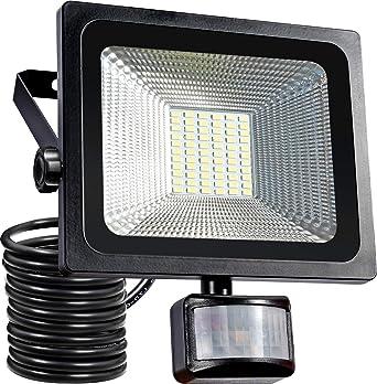 30W LED Fluter Außenstrahler Flutlicht mit Bewegungsmelder Sensor Schwarz IP65