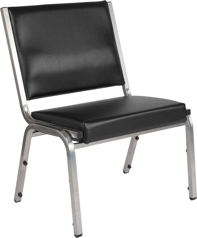Flash Furniture 4 Pack HERCULES Series 1500 lb. Rated Black Antimicrobial Vinyl Bariatric Medical Reception Chair