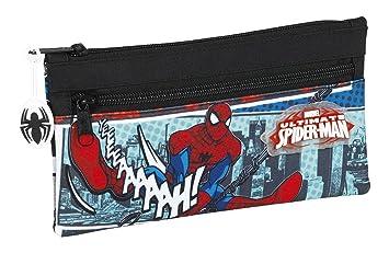 Safta Estuche Doble Cremallera Spiderman