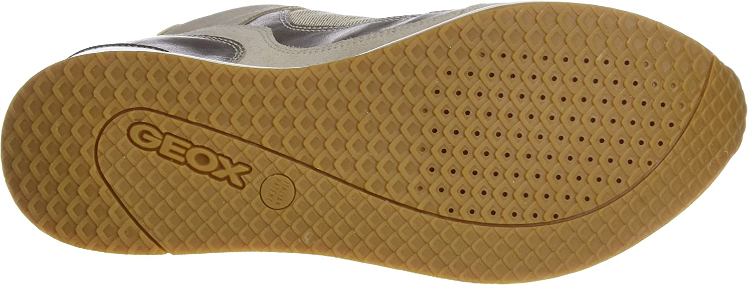 Geox Women's NYDAME 6 Sneaker Light Taupe/Light Gold