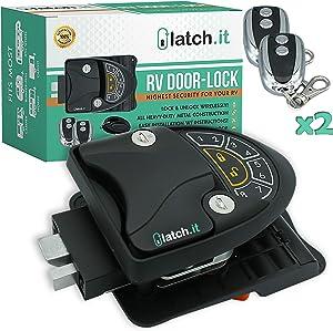 Rv Keyless Entry Door Lock | Rv Lock Keyless Entry | 100% Metal Rv Door Lock w/ 2 Key-fobs and Backlit Keypad | Includes Protective Gasket, Screwdriver & 2 Keys | Easy-to-Install!