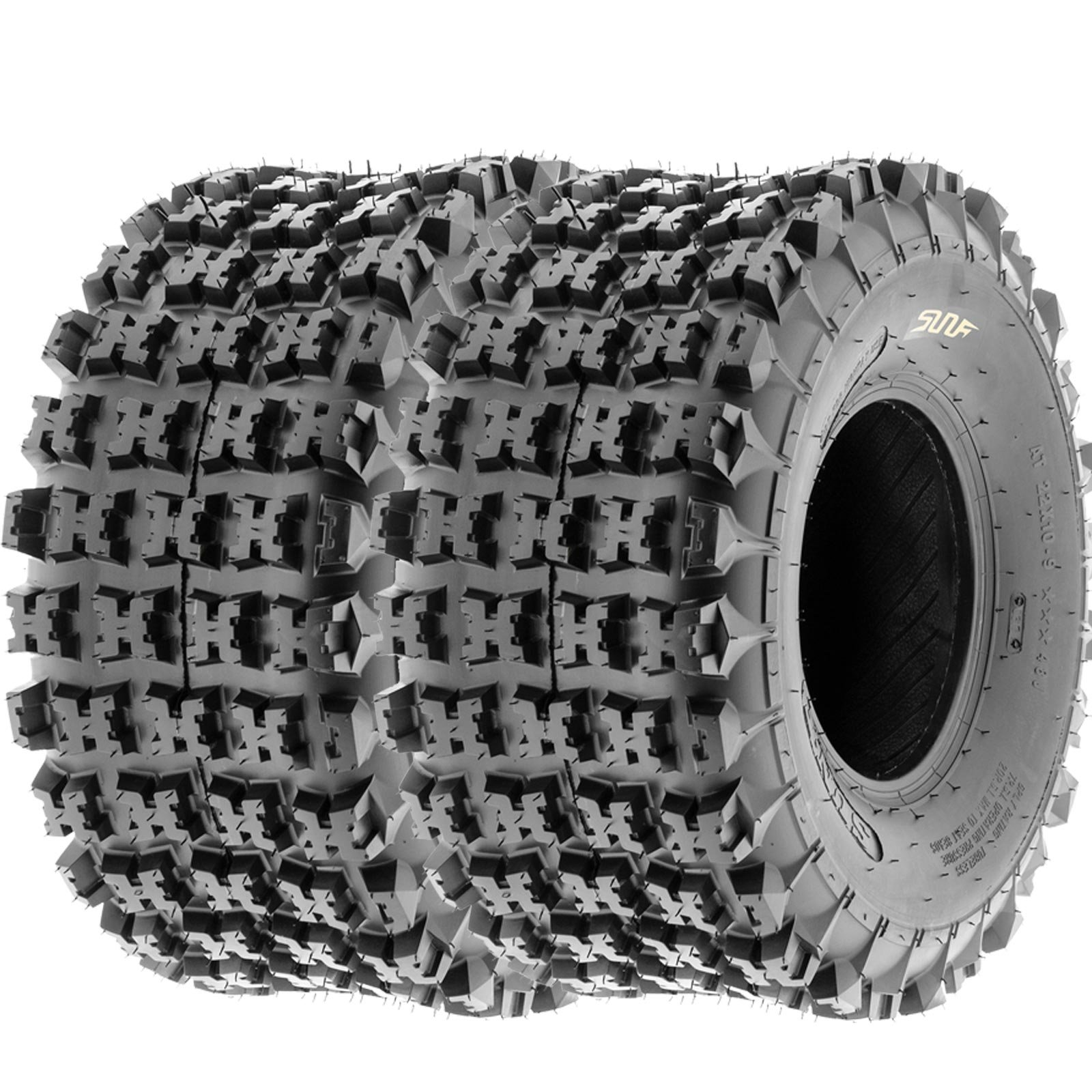 SunF 18x10.5-8 18x10.5x8 ATV UTV All Terrain Race Replacement 6 PR Tubeless Tires A027, [Set of 2] by SunF (Image #1)