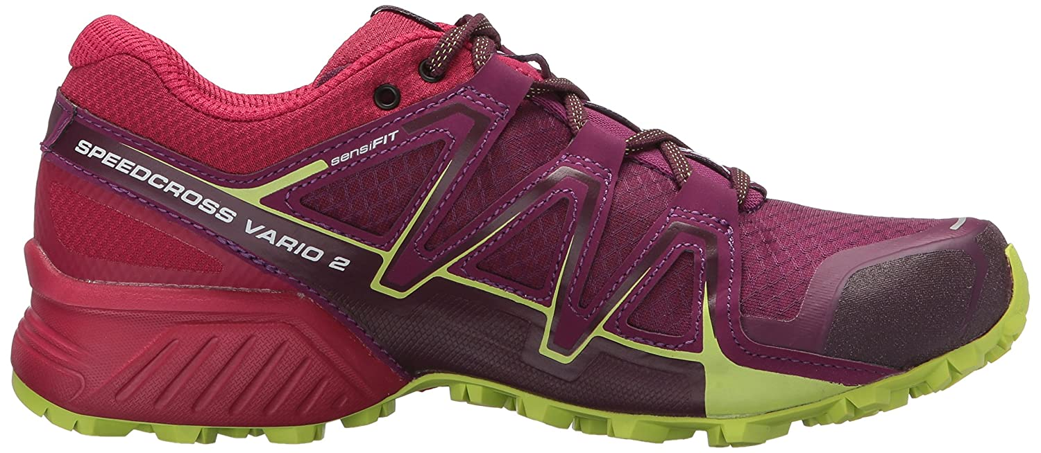 Salomon Damen Speedcross Vario 2 Trailrunning-Schuhe, Violett/Rot (Dark Purple/Cerise/Acid Lime), Gr. 36 2/3