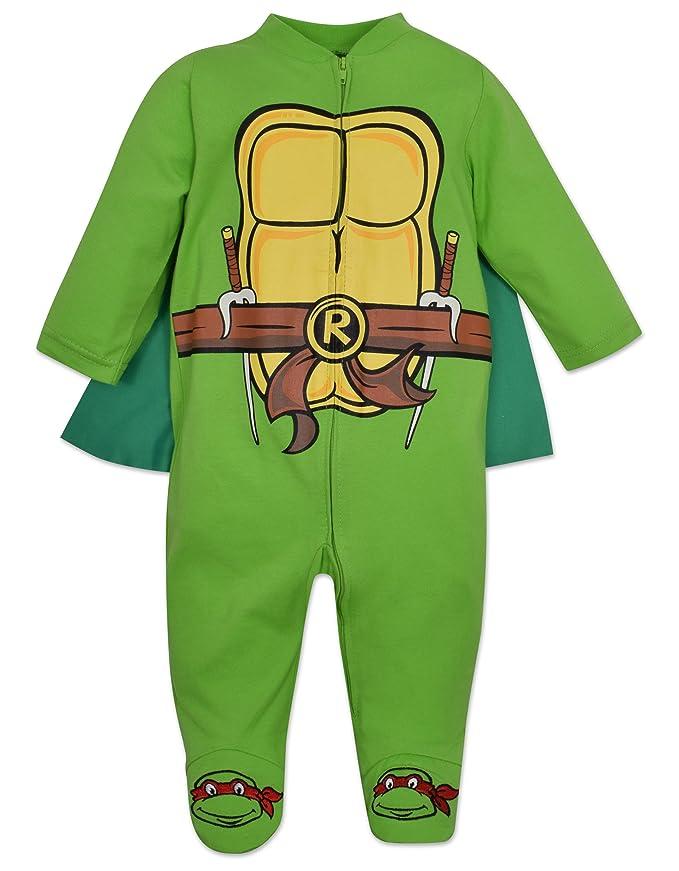 Amazon.com: Baby Ninja Turtles Footed Pajamas con Cabo ...