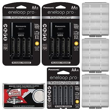 Panasonic eneloop Pro (4) AA 2550 mAh baterías Recargables ...