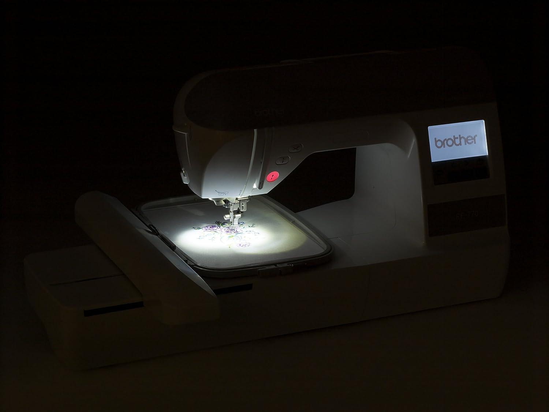 Brother PE770 Eléctrico - Máquina de coser (Violeta, Blanco, Bordado, LCD, Sensor, USB, 650 RPM): Amazon.es: Hogar
