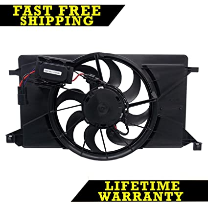 RADIATOR COOLING FAN FOR FORD FITS FOCUS WITH MODULE WITHOUT TURBO FO3115189