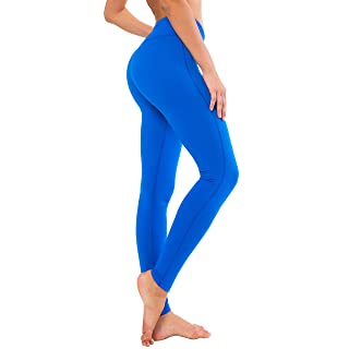 QUEENIEKE Women Yoga Leggings Workout Tights Running Pants Size S Color Dream Blue