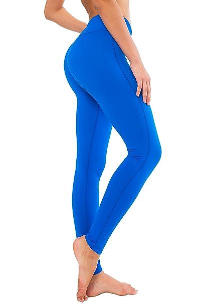 135b3c9480 QUEENIEKE Women Power Stretch Leggings Plus Size Medium Waist Yoga Pants  Hidden Pocket Running Tights Size M Color Blue: Amazon.co.uk: Clothing