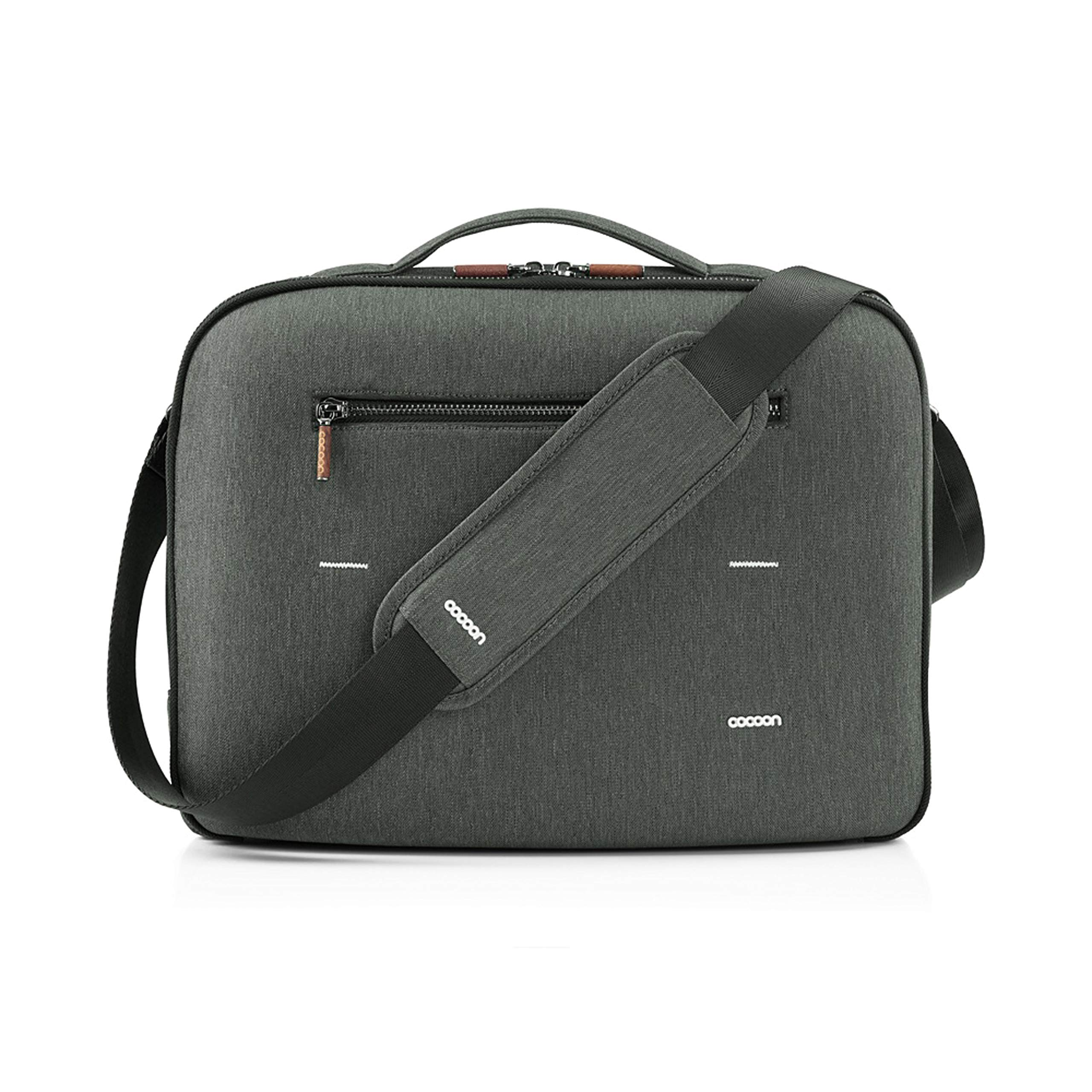 Cocoon MCP3202GF Graphite 13'' Brief with Built-in Grid-IT! Accessory Organizer (Graphite Gray)