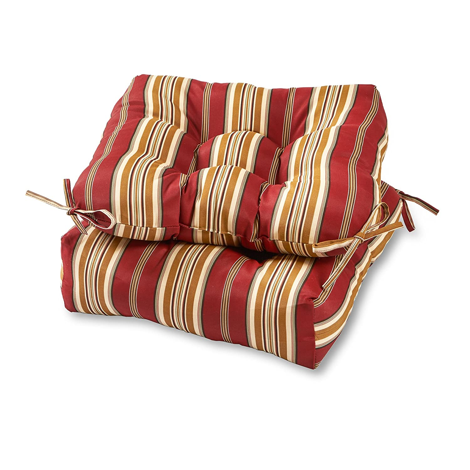 Charming Amazon.com: Greendale Home Fashions 20 Inch Outdoor Chair Cushion (set Of  2), Roma Stripe: Home U0026 Kitchen