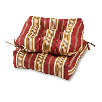 amazon com greendale home fashions 20 inch outdoor chair cushion