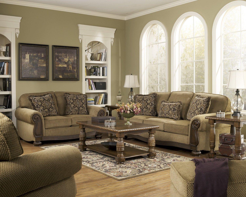 Amazon.com: Ashley Furniture Signature Design   Lynnwood Sofa   Traditional  Design   Amber: Kitchen U0026 Dining