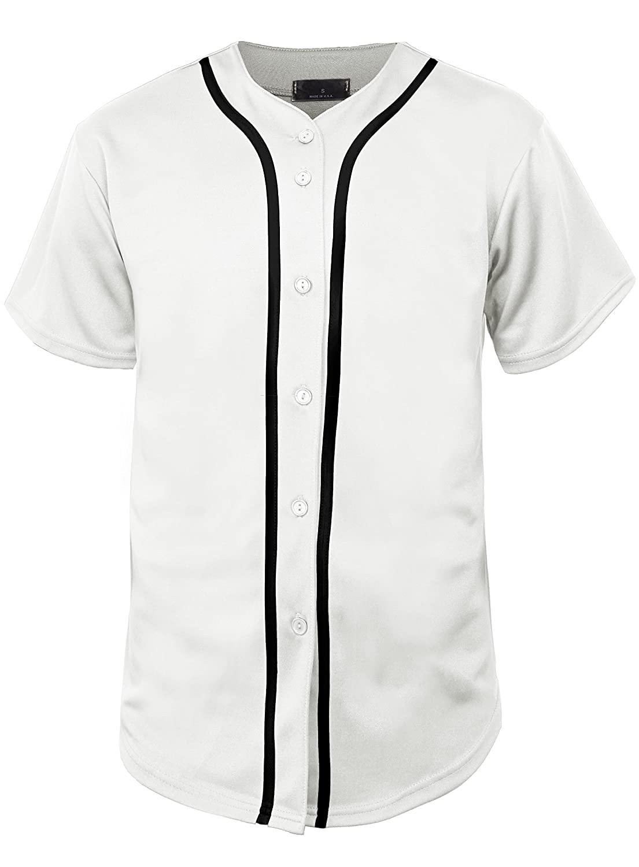 Hat and Beyond SHIRT メンズ B06XRYB47R XS|01 White/Black 01 White/Black XS