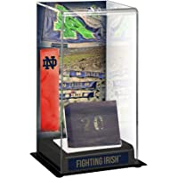 Notre Dame Fighting Irish Tall Display Case with Bench From Notre Dame Stadium… photo