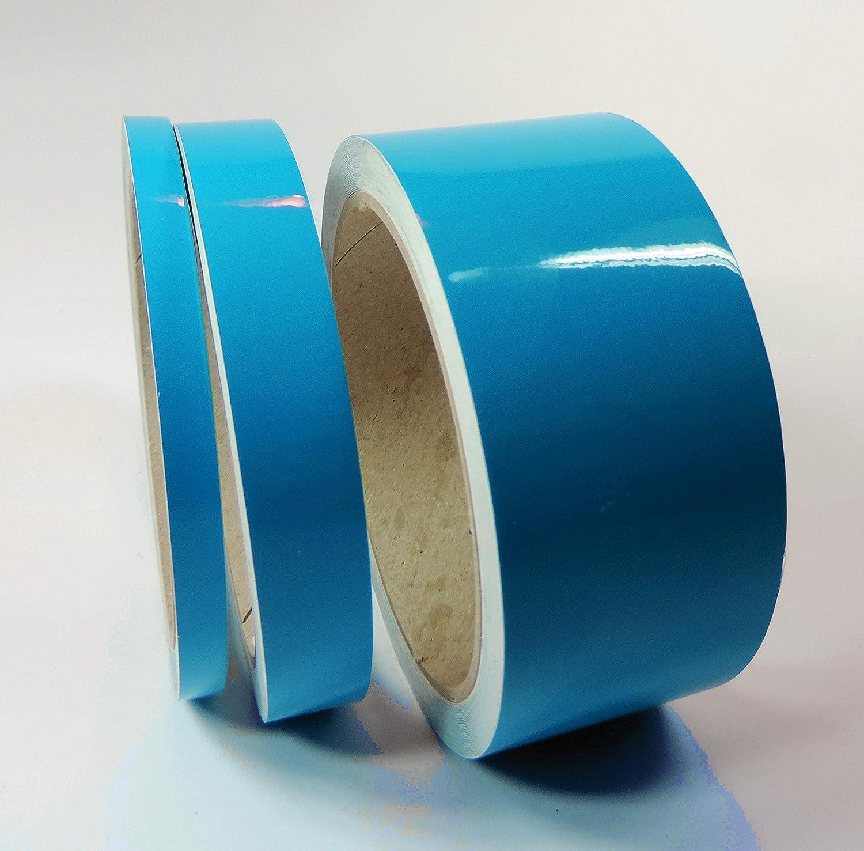 Siviwonder Zierstreifen euroblau Glanz in 15 mm Breite und 10 m L/änge f/ür Auto Boot Jetski Modellbau Klebeband Dekorstreifen