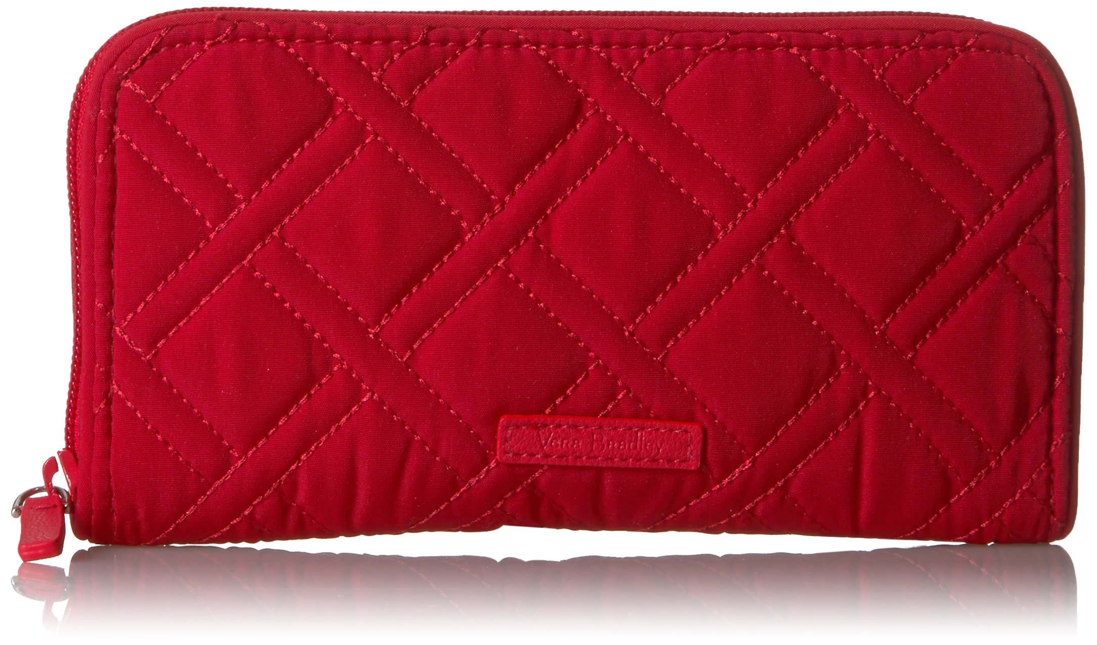Vera Bradley Women's RFID Georgia Wallet Vera, cardinal red, One Size