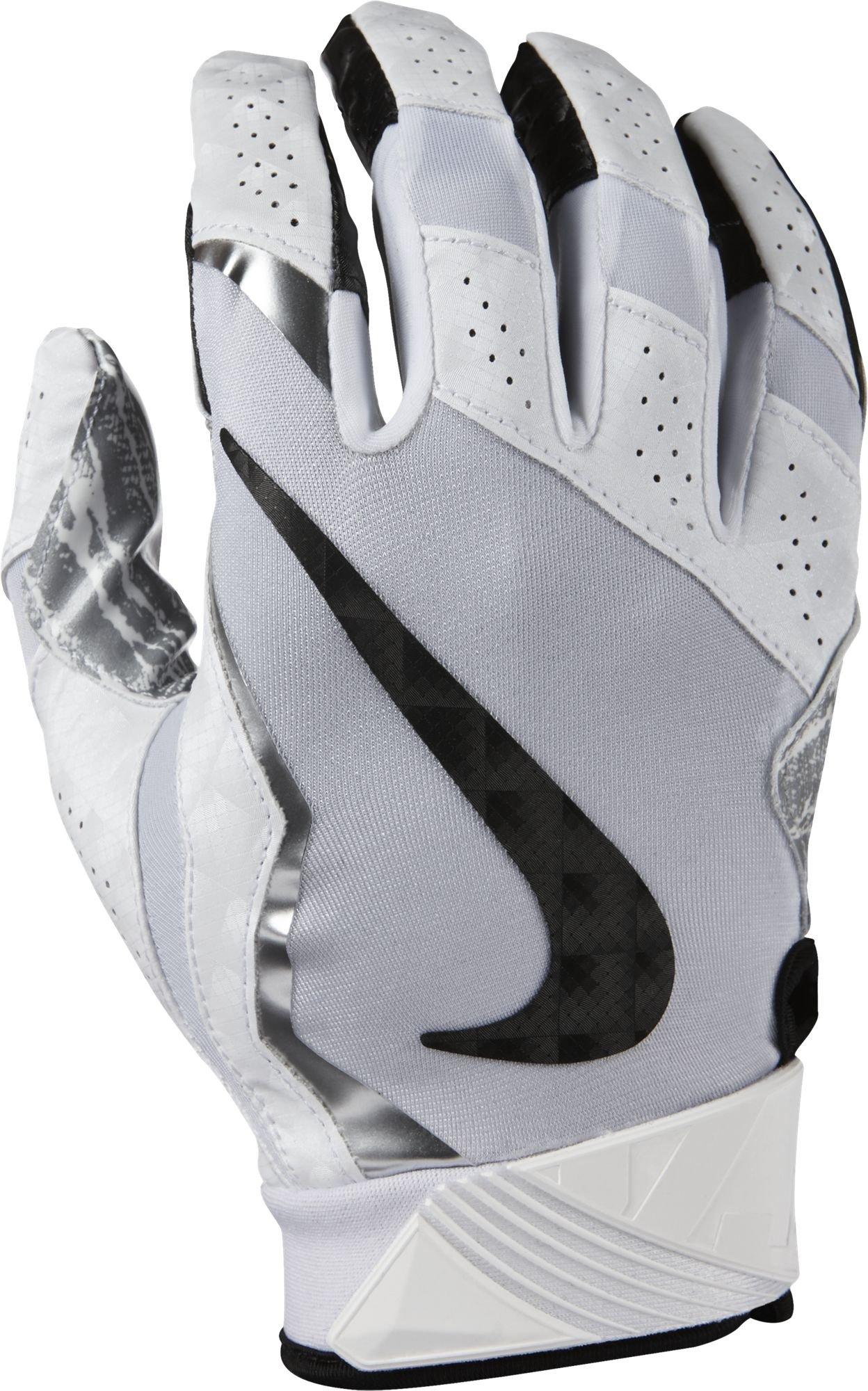 Nike Vapor Jet Gloves 4 White/Metallic Silver/Black Size Small