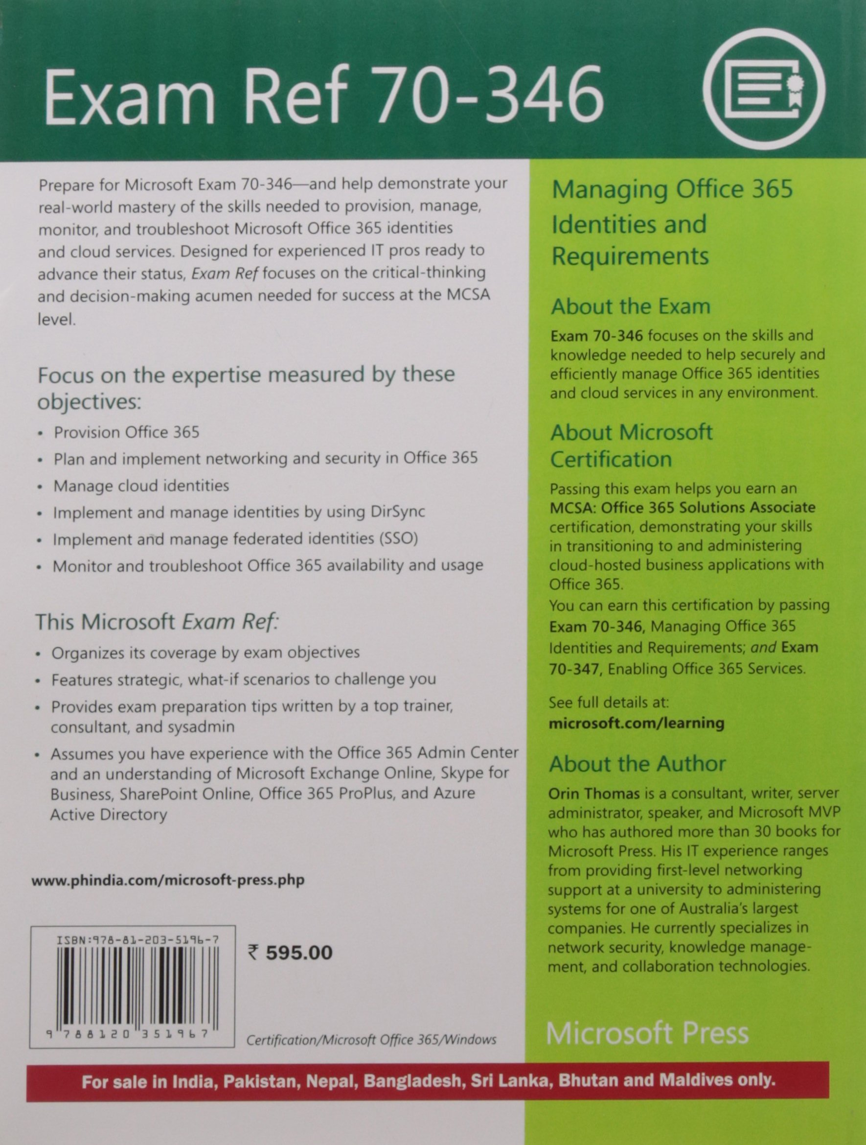 Amazon buy exam ref 70 346 managing office 365 identities and amazon buy exam ref 70 346 managing office 365 identities and requirements book online at low prices in india exam ref 70 346 managing office 365 1betcityfo Images