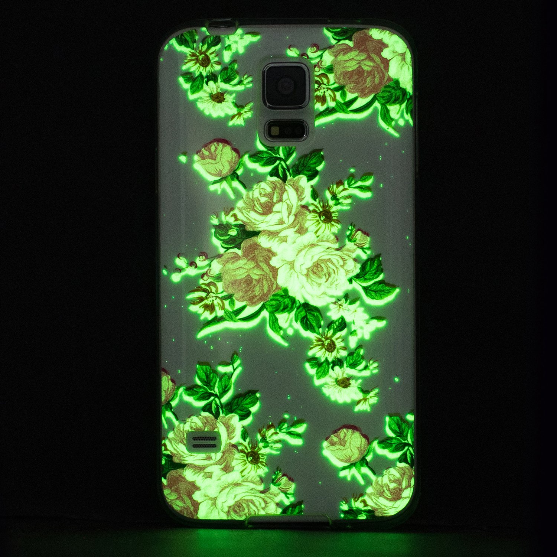 S5 Ne BONROY Samsung Galaxy S5 G900 Coque Galaxy S5 G900 Coque Galaxy S5 Neo S5 Neo Housse Luminous Effect Noctilucent Green Glow in the Dark Ultra Mince Souple Gel TPU Bumper Poussiere Resistance Anti-Scratch Coque Housse Pour Samsung Galaxy S5 G900