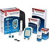 Swiss Point Of Care GK Dual azúcar en la sangre y cetonas Starter pack | 1 x dispositivo de medición (MMOL/L), 1x dispositivo de punción, 100x lancetas, 25x tiras reactivas de cetonas