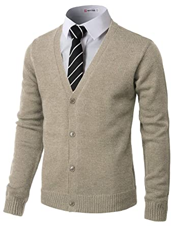 f62d668fd1 H2H Mens Fashion Basic Button Front Marble Color Cardigan Beige US 3XL Asia  4XL (