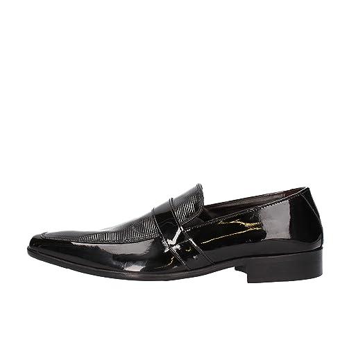 Maestri CALZATURIERI Hombre Zapatos Elegantes Negro Charol AG830 (40 EU) SrrkG4mN