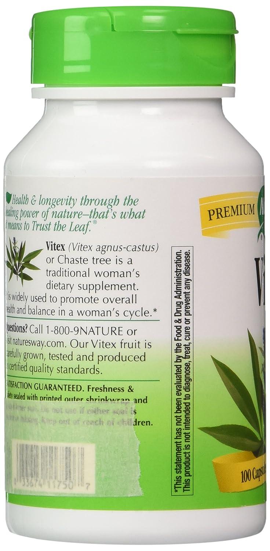 Amazon.com: La manera Vitex fruta 400 mg, (Gelatin) Cápsulas ...