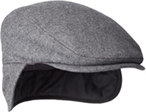 0e21995f43cb74 Sterkowski Genuine Leather Winter Flat Cap with Ear Flap US 6 3/4 ...