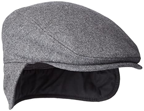 781e2ae71a822c Dockers Men's Solid Melton Hat with Fold-Down Ear Flaps, Charcoal, 32(