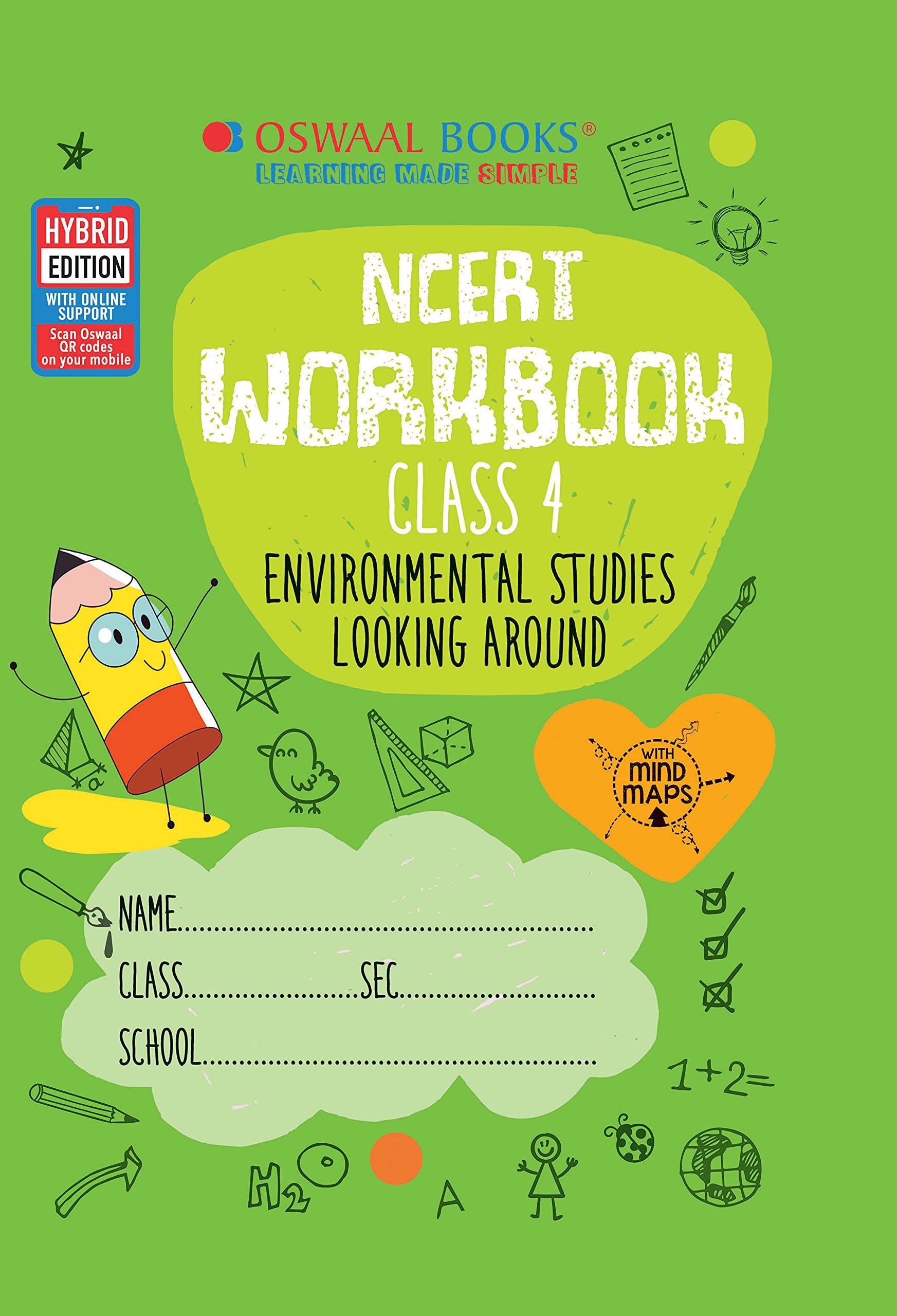 Oswaal NCERT Workbook Class 4, Environmental Studies (For 2022 Exam)