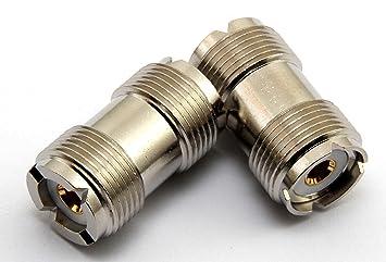 Pl 258 PL258 doble hembra acoplador para unir 2 piezas de coaxial juntos