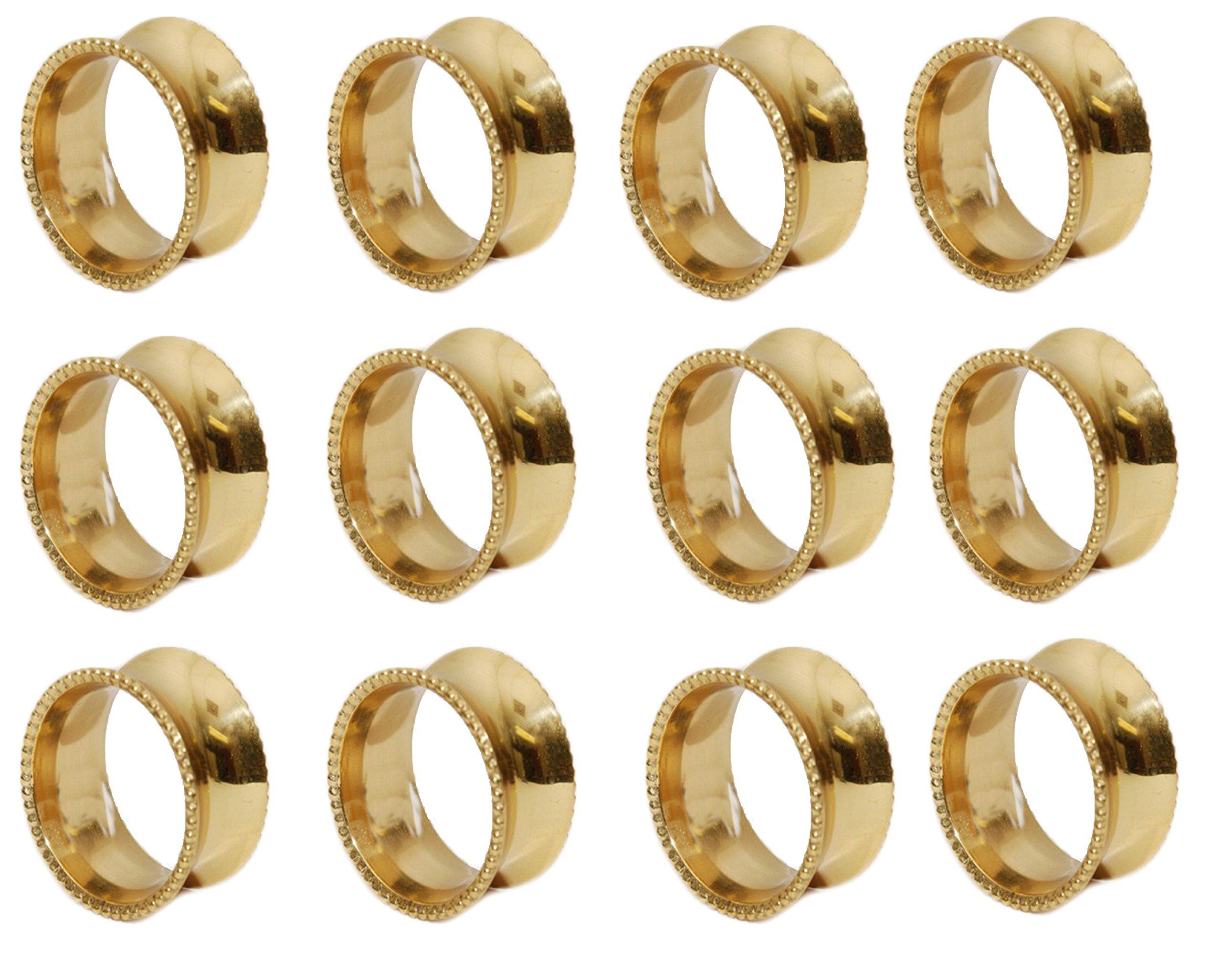 144 pcs NAPKIN RING - GOLD - Ima Brass by IMA BRASS (Image #1)