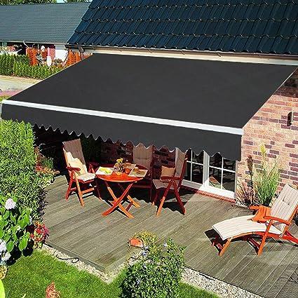 Garten Markise Einziehbar Manuell Klemmmarkise Sonnenschutz Kassettenmarkise