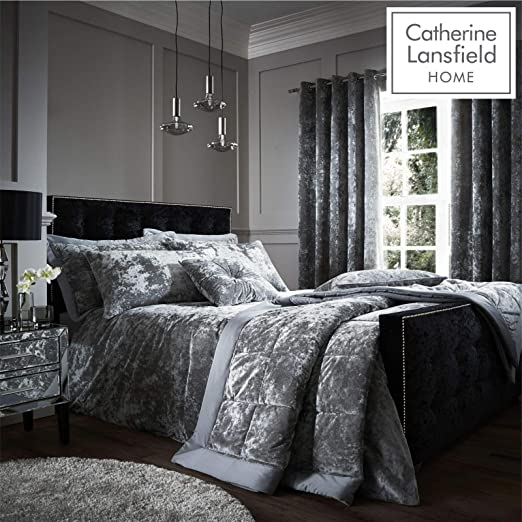 3 Piece Premium Quality Crushed Soft Velvet Duvet Cover Pillow Cases Bedding Set