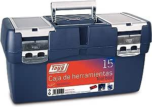 Tayg Caja herramientas plástico n. 15, negro, 500 x 258 x 255 mm: Amazon.es: Bricolaje y herramientas