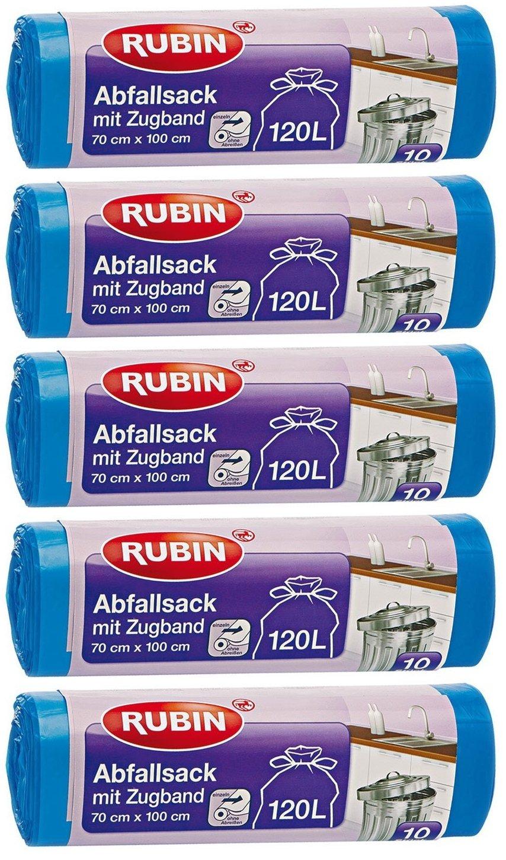 Cordón bolsas de basura - 120 litros (50 unidades) - para el ...
