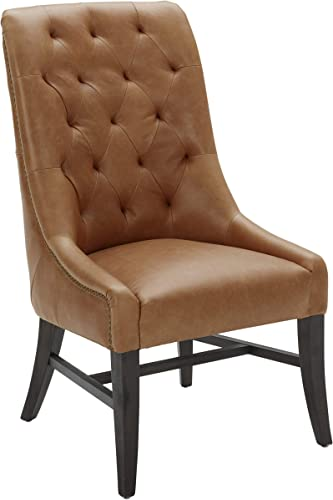 Amazon Brand Rivet Modern Leather Tufted Dining Chair
