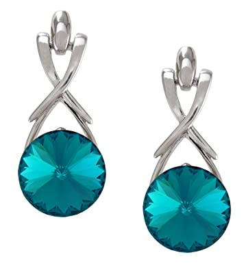 Amazon Com December Birthstone Blue Zercon Color Earrings With