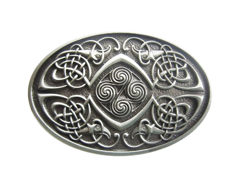 uomo argento argento Taglia unica Fibbia per Cinture Schnalle123