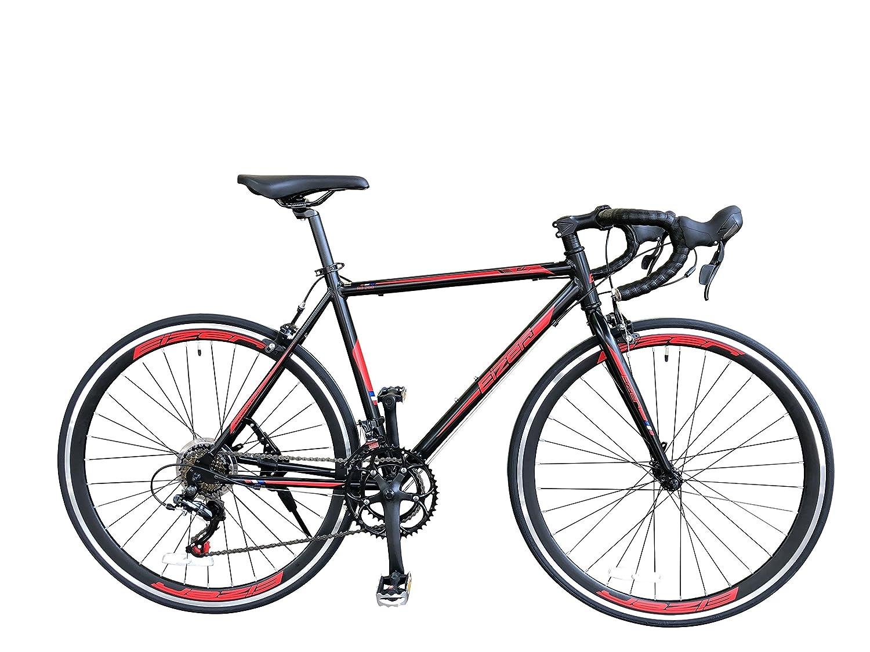Eizer(アイゼル) 【ロードバイク】デュアルコントロール14速 SHIMANOシマノTourney&microSHIFTシフターコンポ 軽量700Cアルミフレーム 前後クイックリリース 今後のステップアップにも対応可能なロードバイクエントリーモデル EizerアイゼルRB200 RB200 ブラック 520mm B07DWY47RH