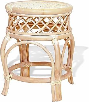 Flower stand//Side Table//Stool Rattan honey