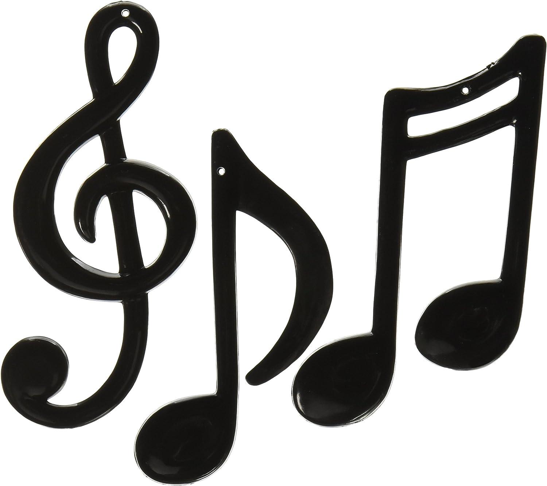 Molded Plastic Musical Notes (black) (3/Pkg)