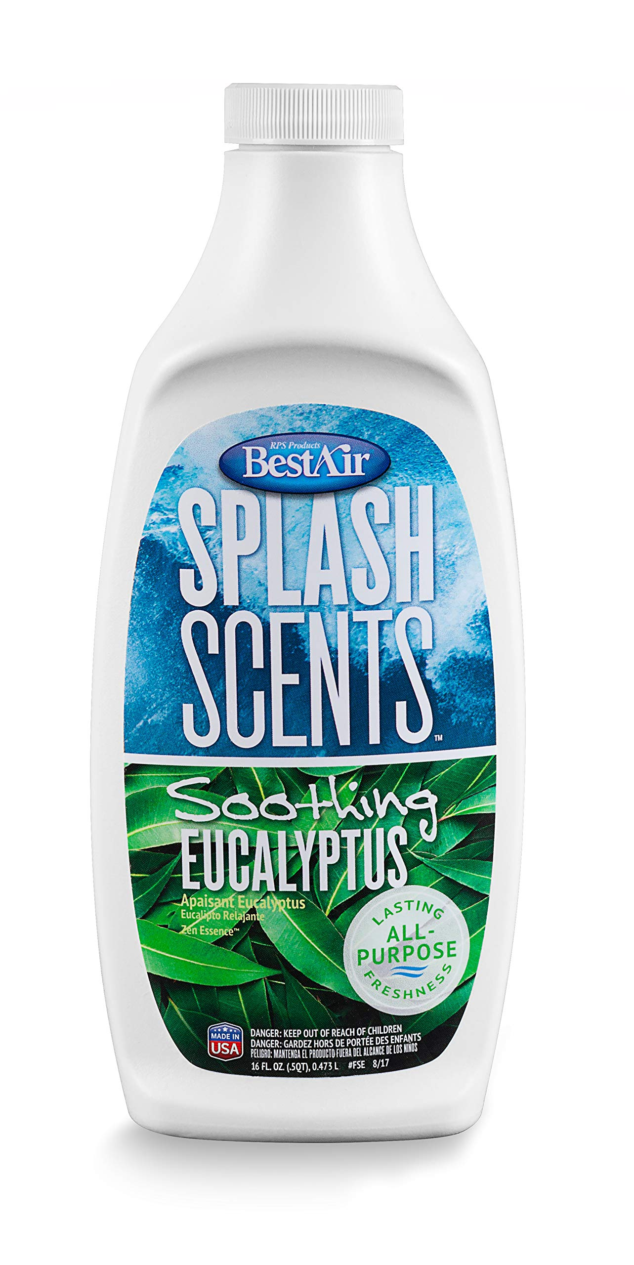 BestAir FSE-PDQ-6 Splash Scents Humidifier Scent & Water Treatment, Soothing Eucalyptus, 16 fl oz, Single Pack by BestAir