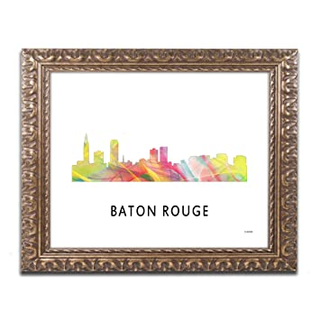 Amazon.com: Baton Rouge Louisiana Skyline WB-1 by Marlene Watson ...